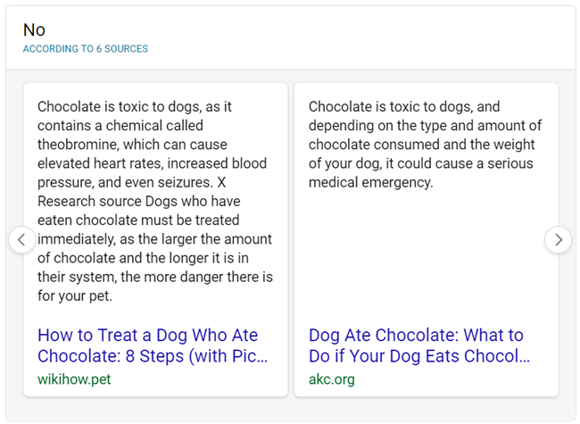 Ja / Nee antwoord Bing