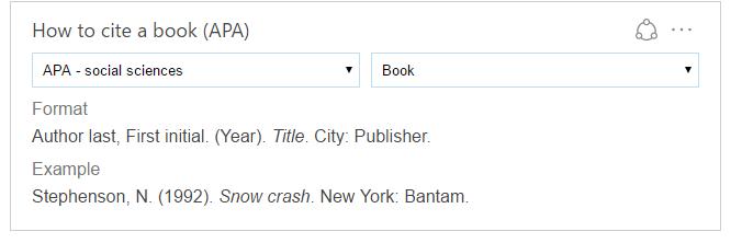 How to cite a book (apa)