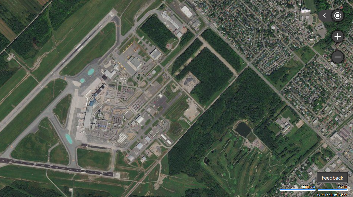 Aeroporto Quebec City : Million square kilometers of new imagery in eastern