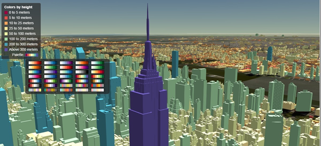 Cesium with Bing Maps and 1.1 million styled buildings in NYC using 3D Tiles