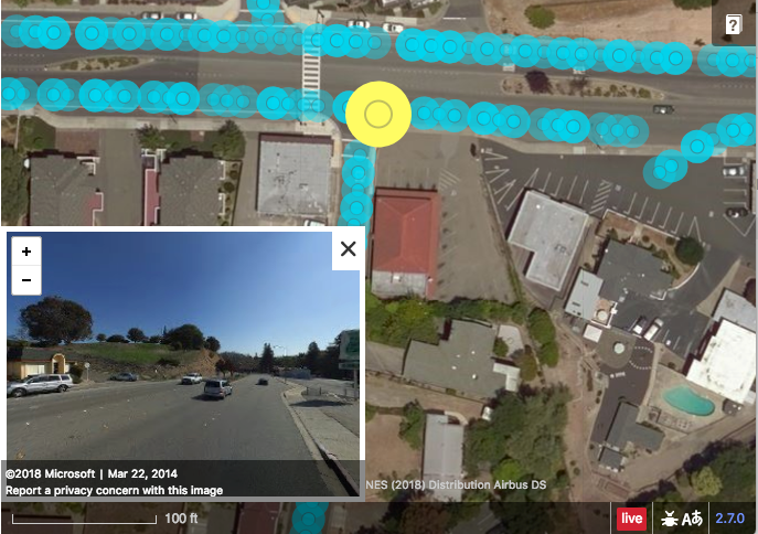 Bing Maps Streetside Imagery integrated in OpenStreet Map Editor iD