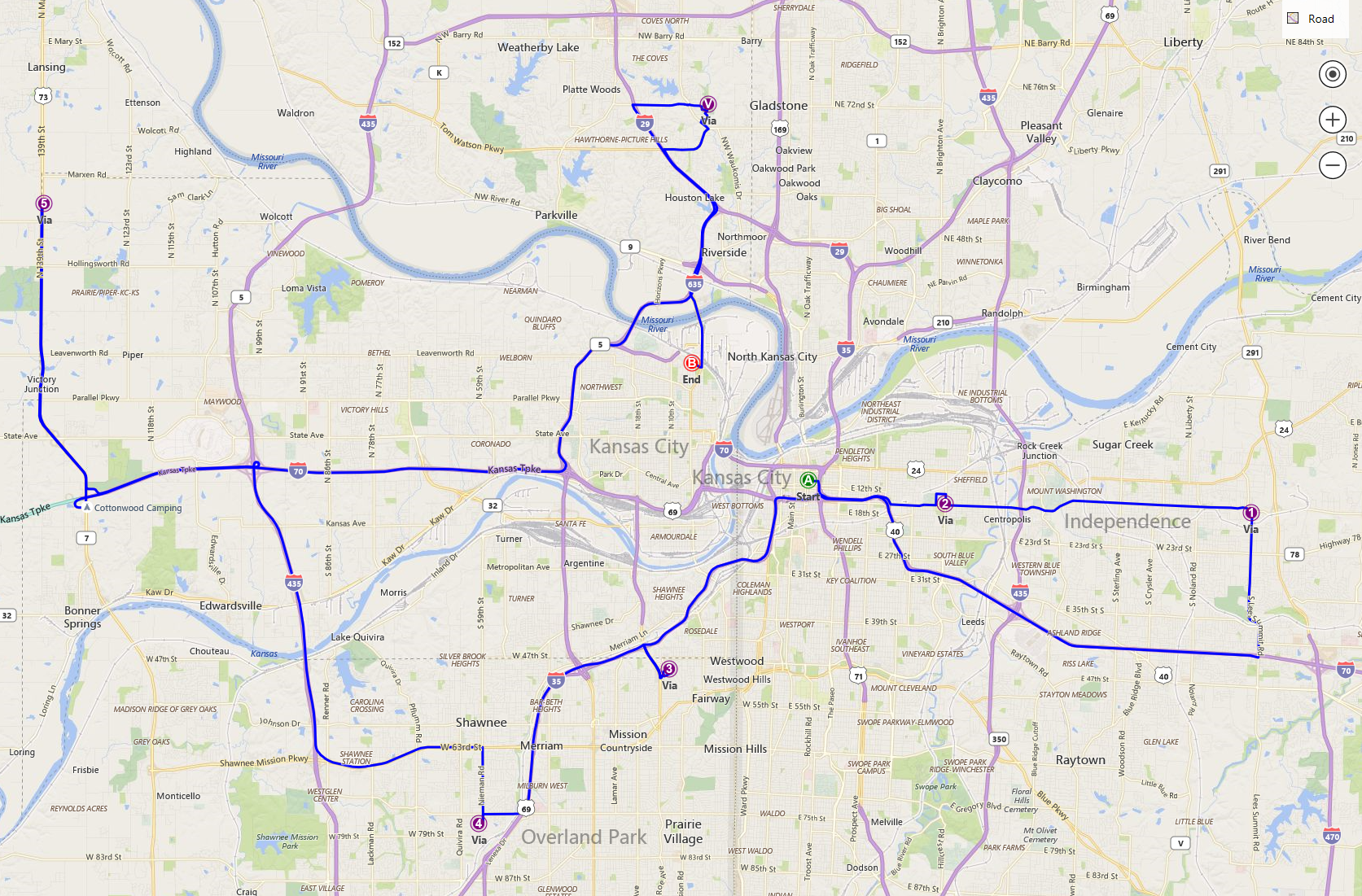 Bing Maps Route Optimization