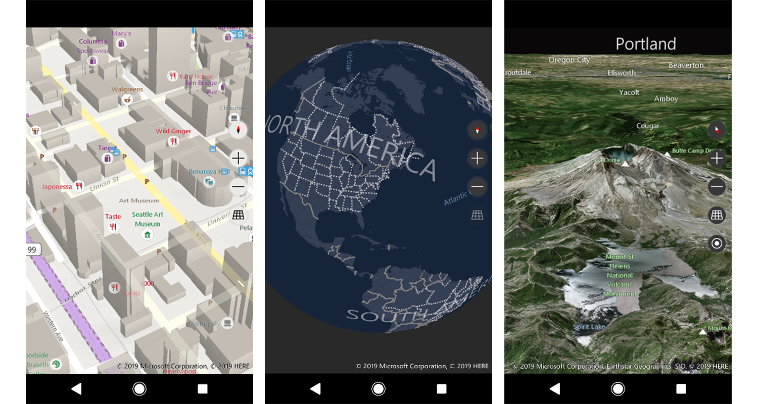 Bing Maps SDK - Native Control Screenshots