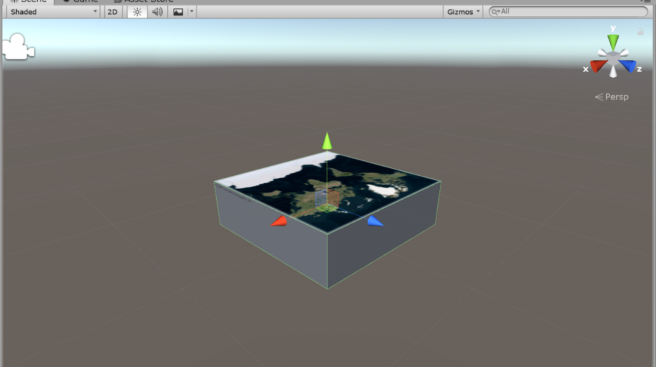 Maps SDK for Unity - Screenshot Bing Maps Overlaid on Game Object