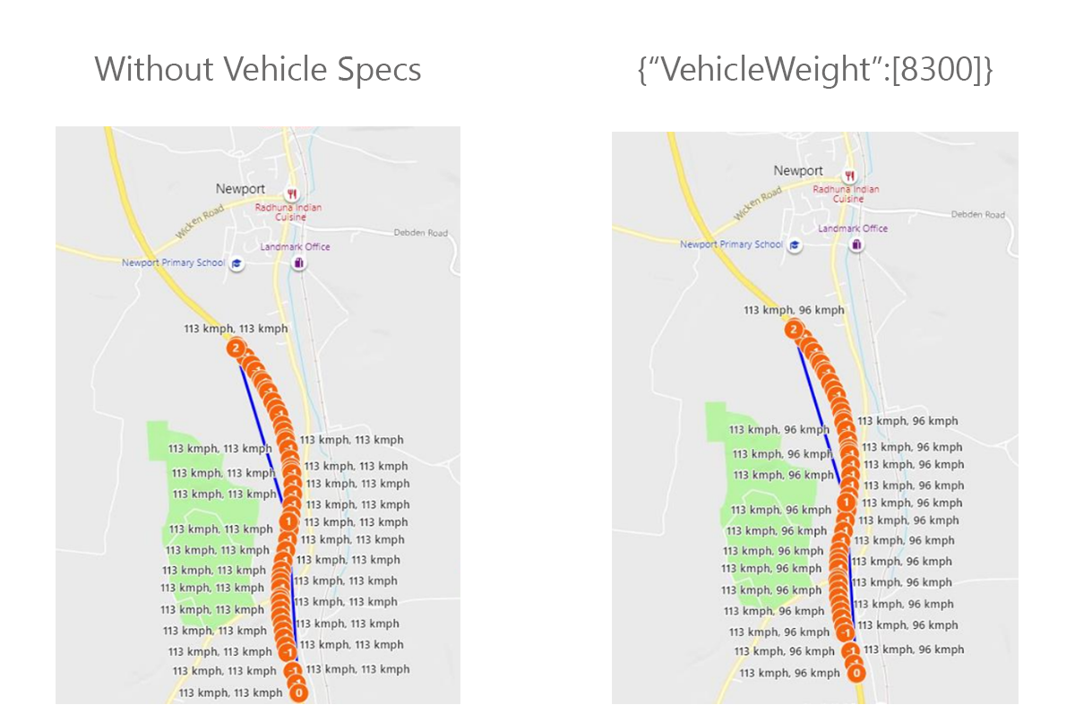 Snap to Road API - Truck Mode with vehicle specs Screenshot