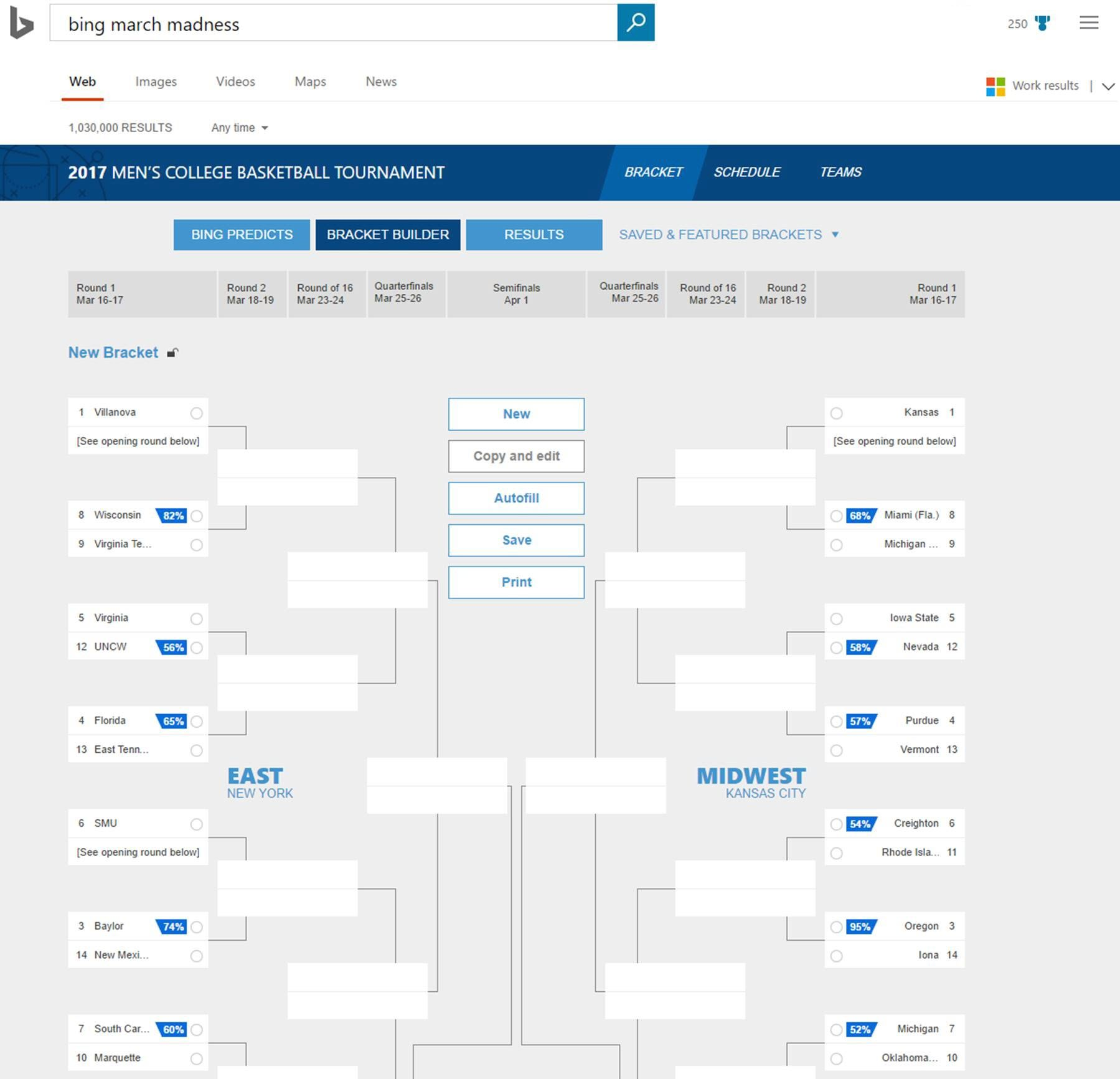 Bing March Madness