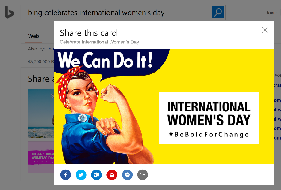 International Women's Day - Share this card
