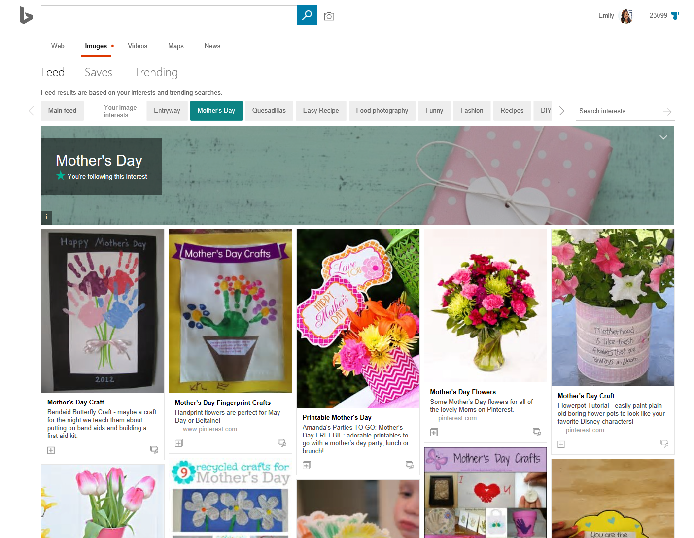 Mother's Day Search