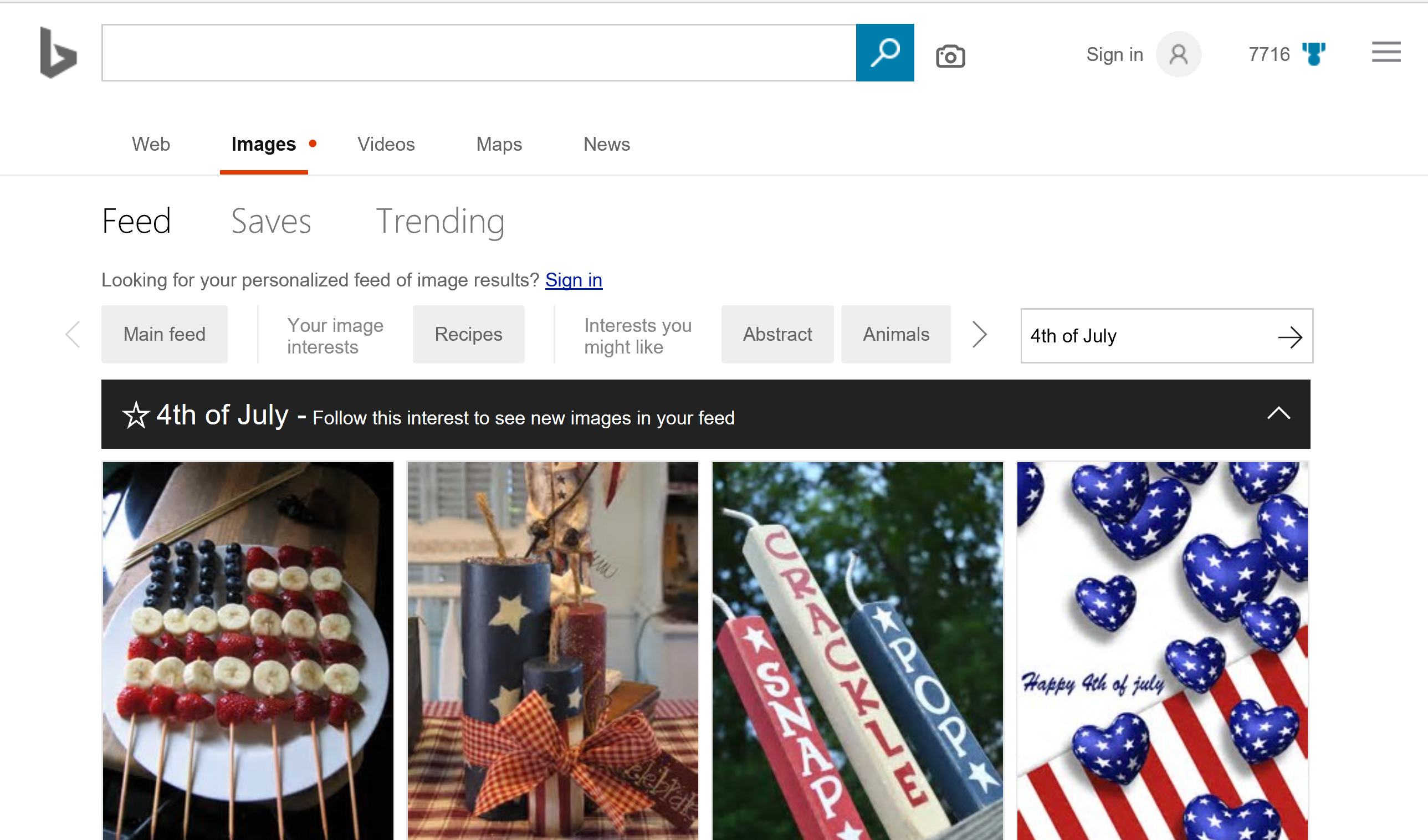 Bing Image Feed