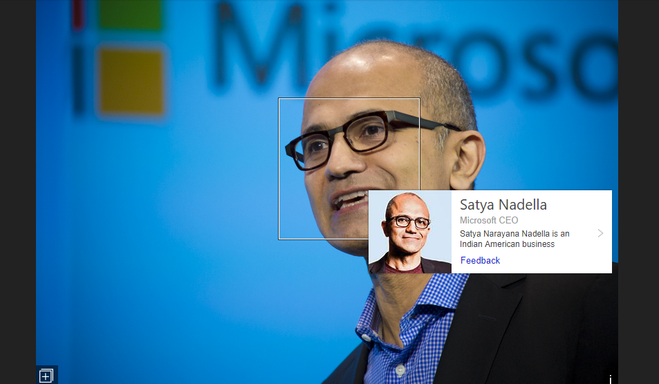 Celebrity Recognition Example - Satya Nadella