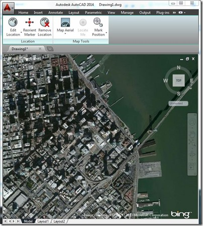 Bing Maps in AutoCAD 2014 | Maps Blog