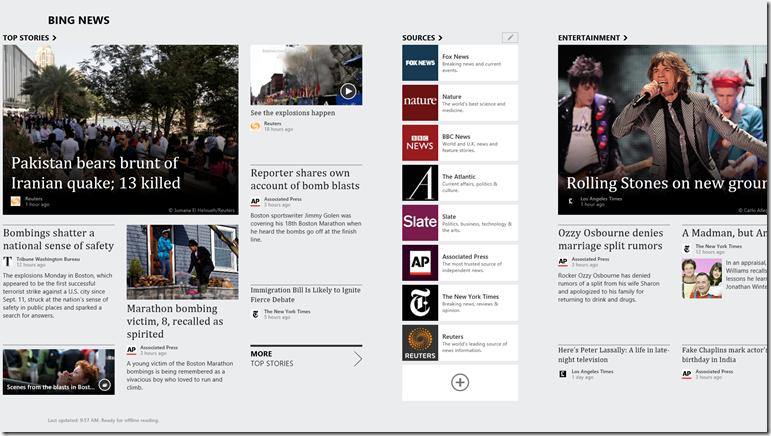 Windows 8 App Refresh   Bing Search Blog