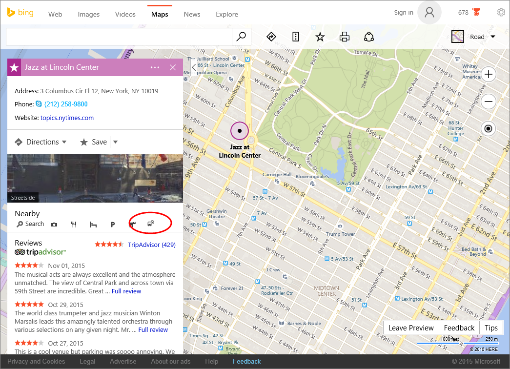 Explore your transit options and plan your trip with Bing Maps