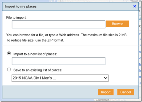 """Migrating """"My Map"""" from Google to Bing 