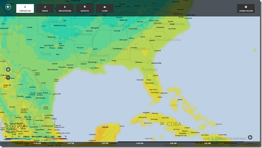 Weather - temperature map
