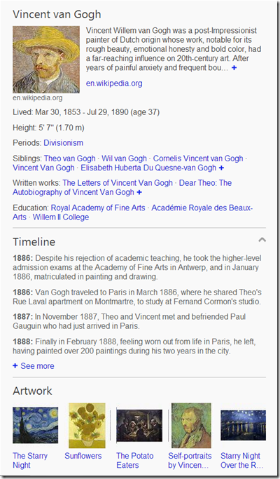 Timeline: Understanding Important Events in People's Lives | Bing ...