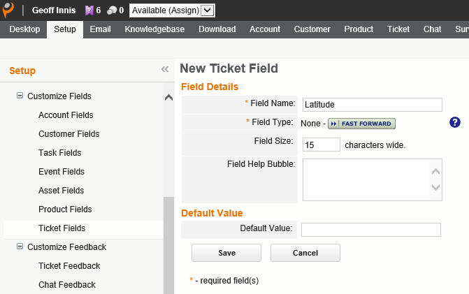 SpatiallyEnabledCustomerCareBingMapsandParature-NewTicket