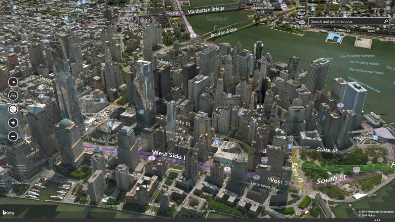 Microsoft Bing Maps 3D full screenshot
