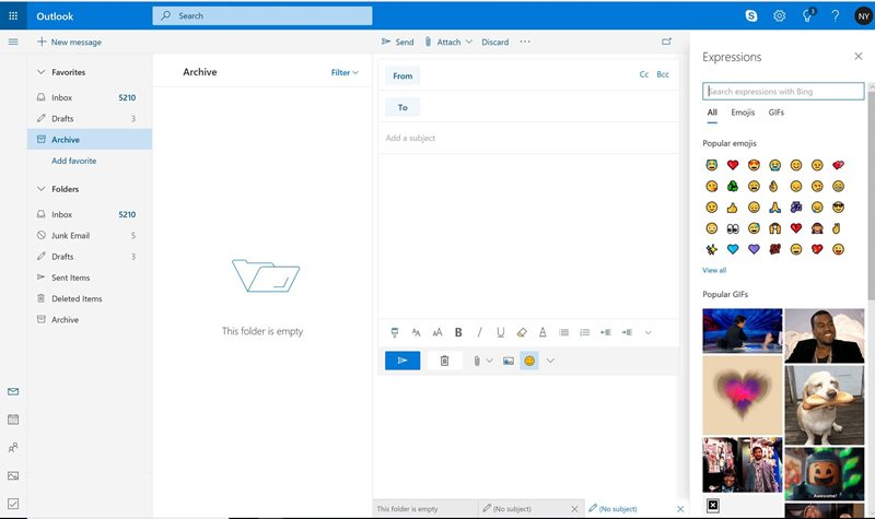 Bing GIFS Outlook