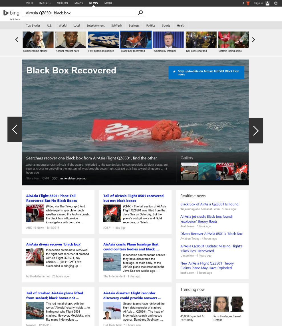 Topic View on Bing News