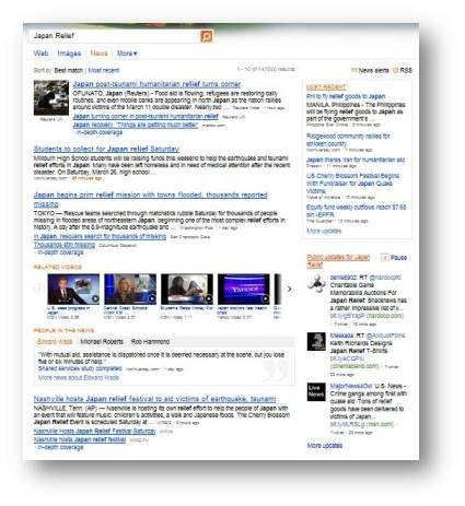 Bing Feature Update: Bing News with Real-Time Twitter feed and