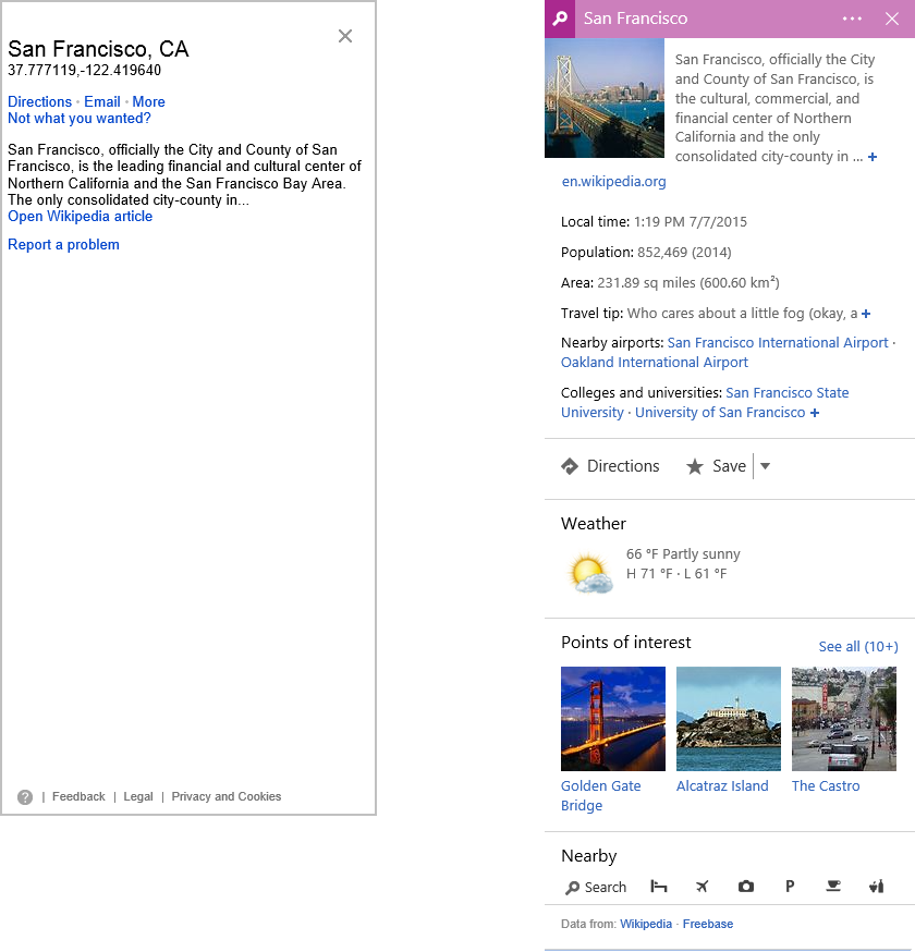 Search improvements in Bing Maps Preview | Maps Blog