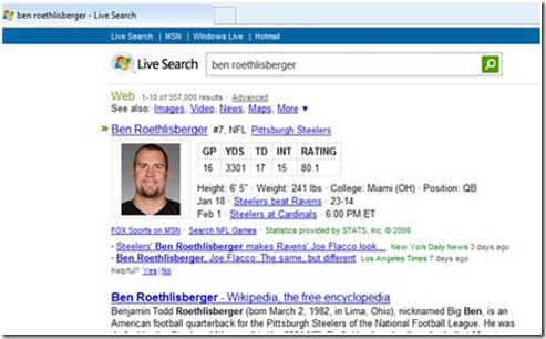 Image of Live Search player stats