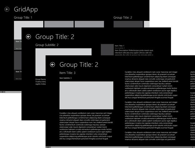 Screenshot: Grid app template