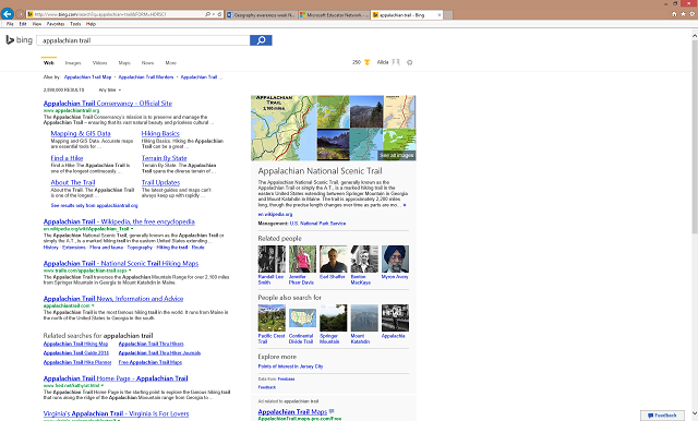 Appalachian Trail Search Result