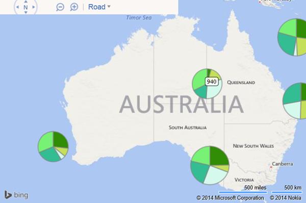 Visualizing Point Based Business Intelligence Data On Bing Maps