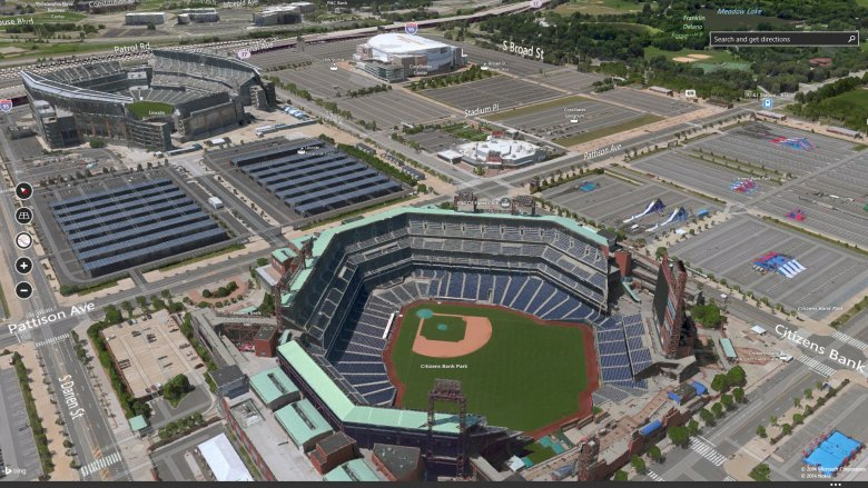 3D imagery of Philadelphia Sports Complex