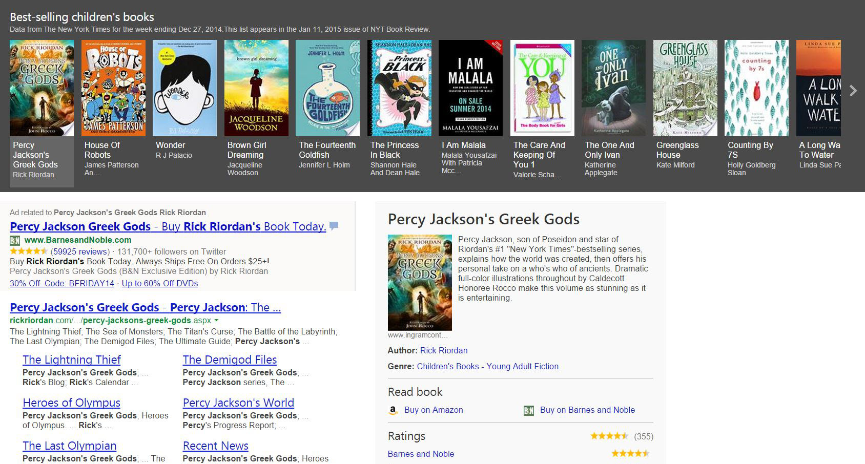 Finding great books just got easier with Bing best-sellers