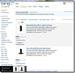 Bing Shopping