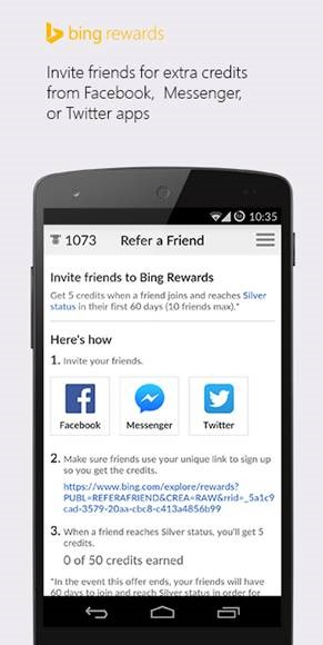 Refer friends and earn credits