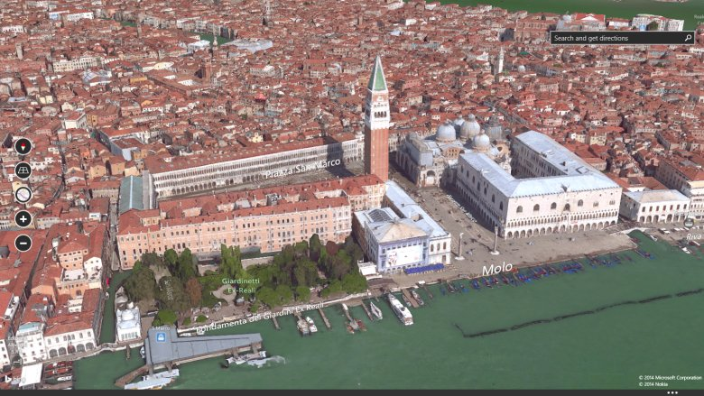 venice italy on bing maps preview app