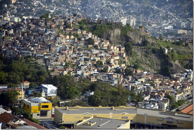 Oct 24, 2013; Rio de Janiero, BRA; An aerial view of a low income housing community also known as a favela in the city of Rio during the first world press briefing for the Rio 2016 Olympic Games. Mandatory Credit: RVR Photos-USA TODAY Sports
