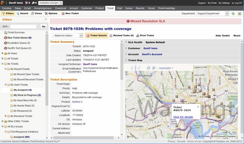 How to Spatially Enable Customer Care with Bing Maps and Parature ...